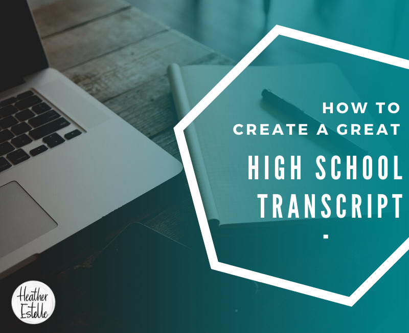 How to create a great high school transcript